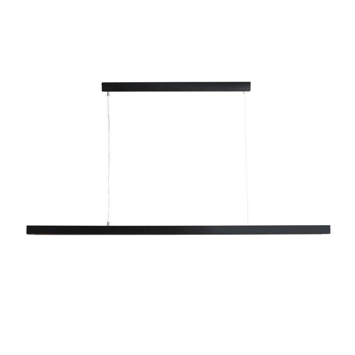 Lustra tip pendul Buehler, metal, neagra, 80 x 126 x 4 cm, 60w