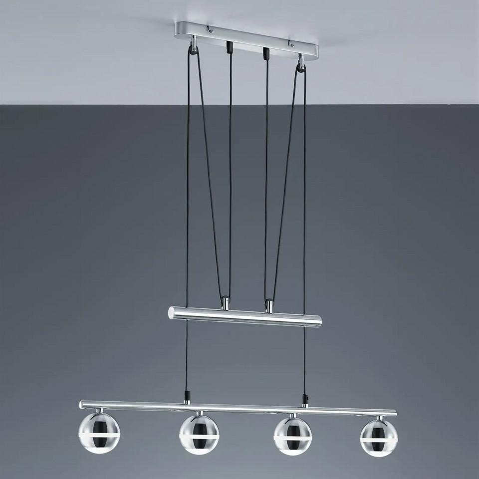 Lustra tip pendul, metal/plastic, 75 x 8 x 180 cm, 3,8w