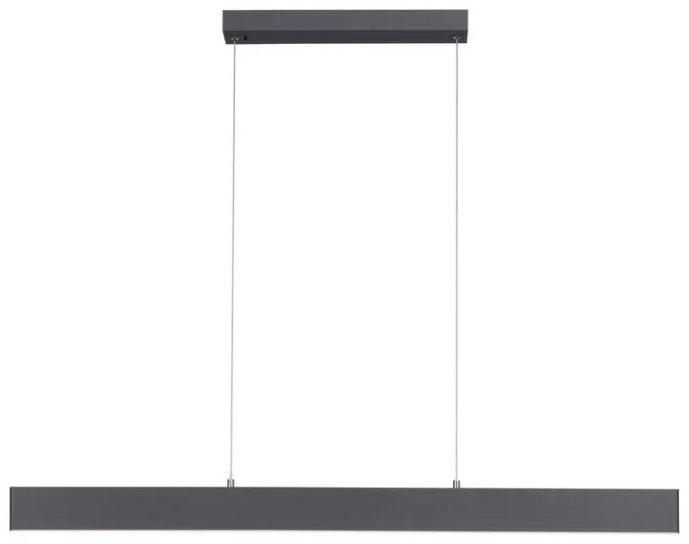 Lustra tip pendul Nila, metal/plastic, antracit, 121 x 6 x 120 cm, 38w