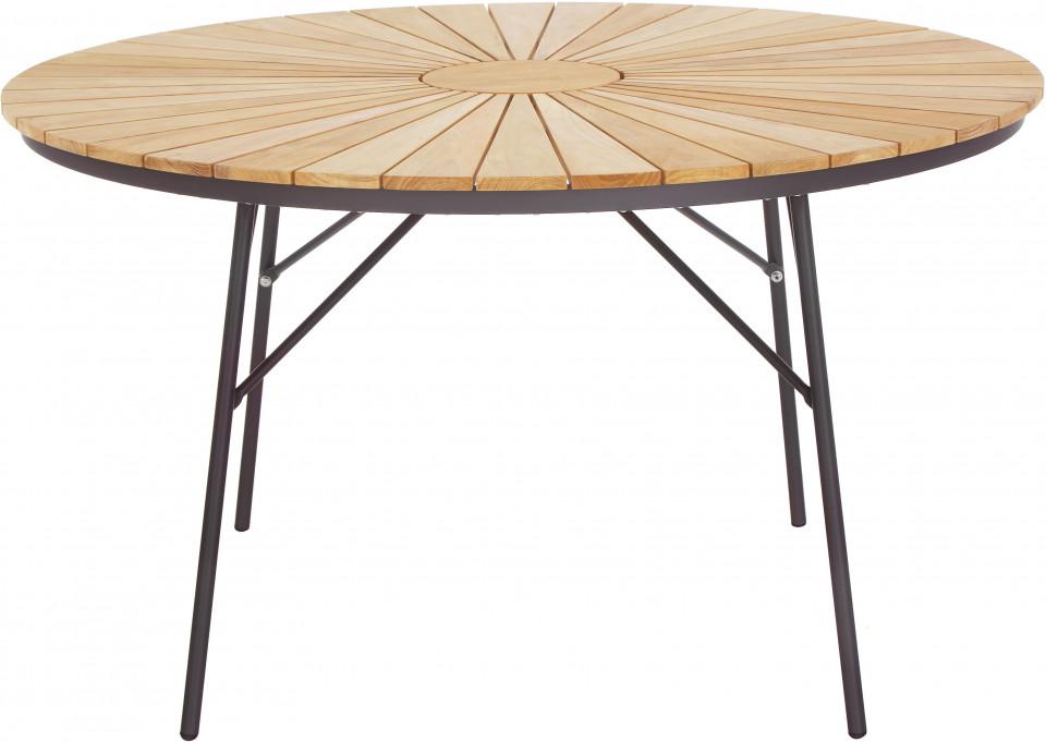 Masă de grădină din lemn, Hard & Ellen, 130 x 73 cm