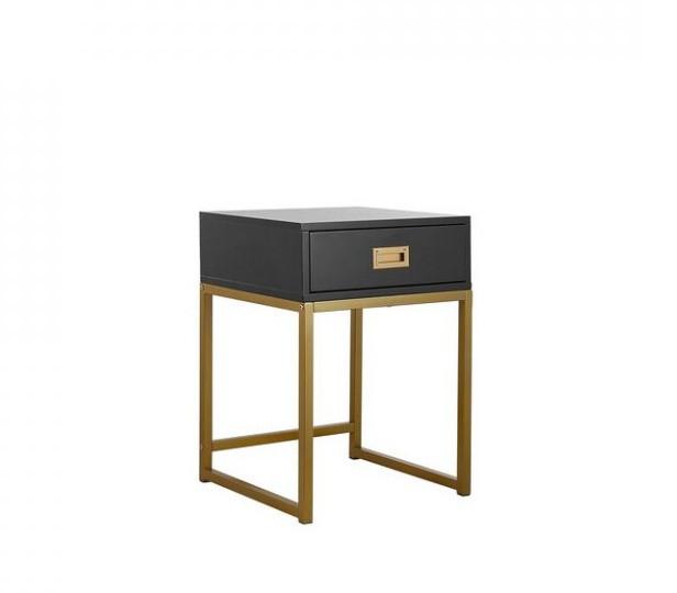 Masa laterala LARGO din metal, negru, 57 x 40 cm poza chilipirul-zilei.ro