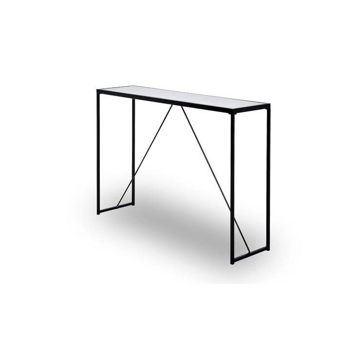 Masa tip consola, alb/negru, 76 x 111 x 30 cm poza chilipirul-zilei.ro