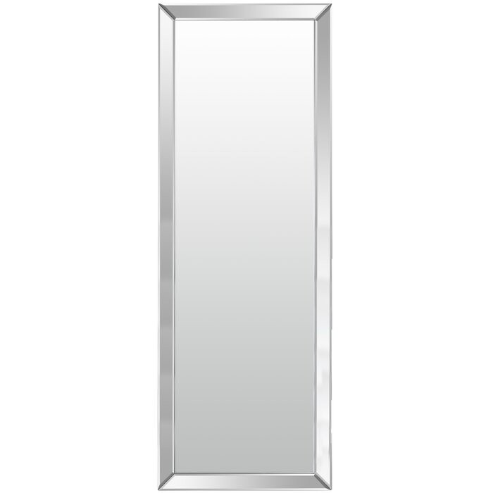 Oglindă de perete Chadwick, argintie, 160 x 60 x 4,5 cm chilipirul-zilei.ro