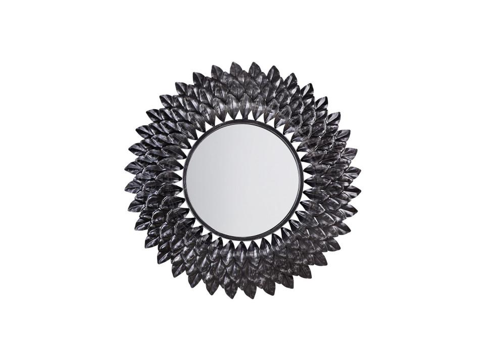 Oglinda de perete LARRAU argintie, diametru 70 cm poza chilipirul-zilei.ro