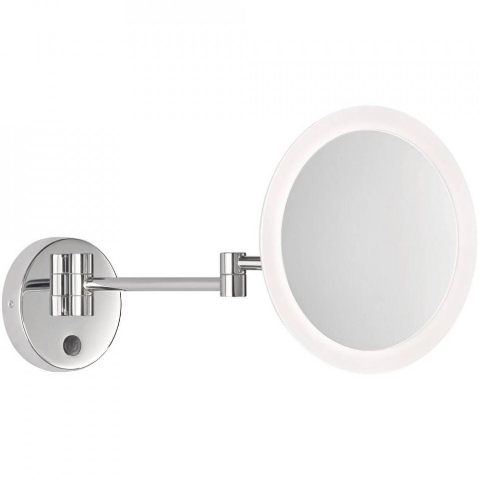 Oglinda pentru baie Tom, iluminata, metal/plastic, argintie, 146 x 22 x 36 cm, 3w poza chilipirul-zilei.ro