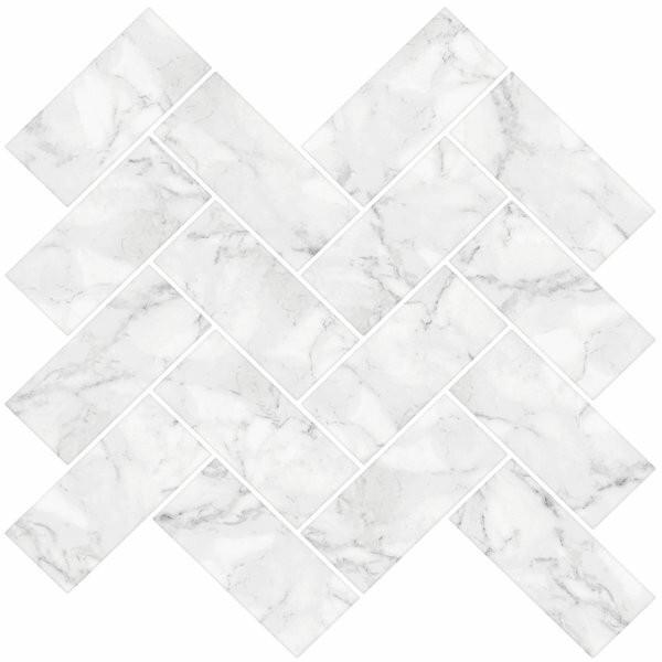Placă de marmură Herringbone, 3.81 x 7.62 cm imagine chilipirul-zilei.ro