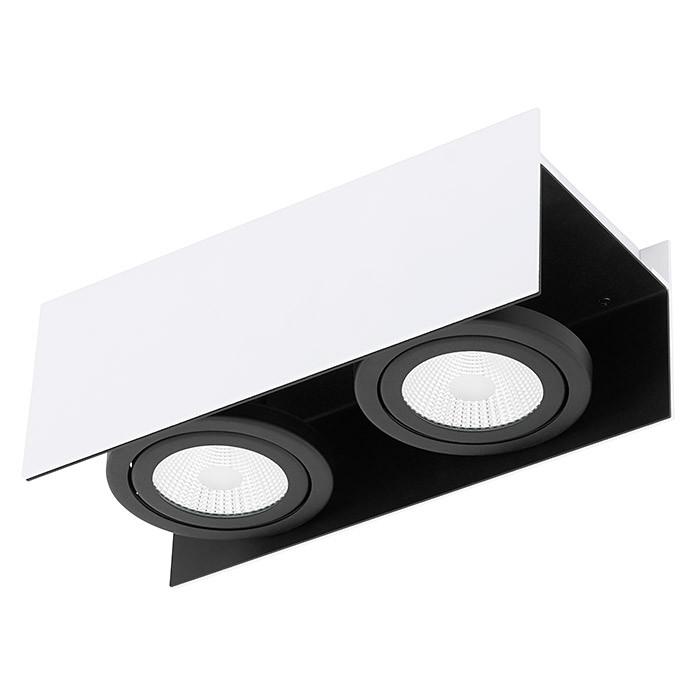 Plafoniera Eglo, cu LED, ALB/NEGRU, 13 x 11 x 31 cm