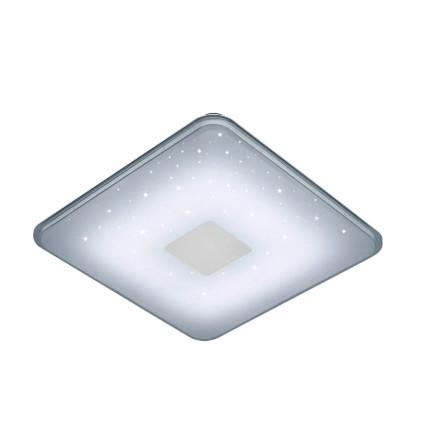 Plafoniera Samurai, metal/plastic, argintie, 42,5 x 6 x 42,5 cm, 30w imagine