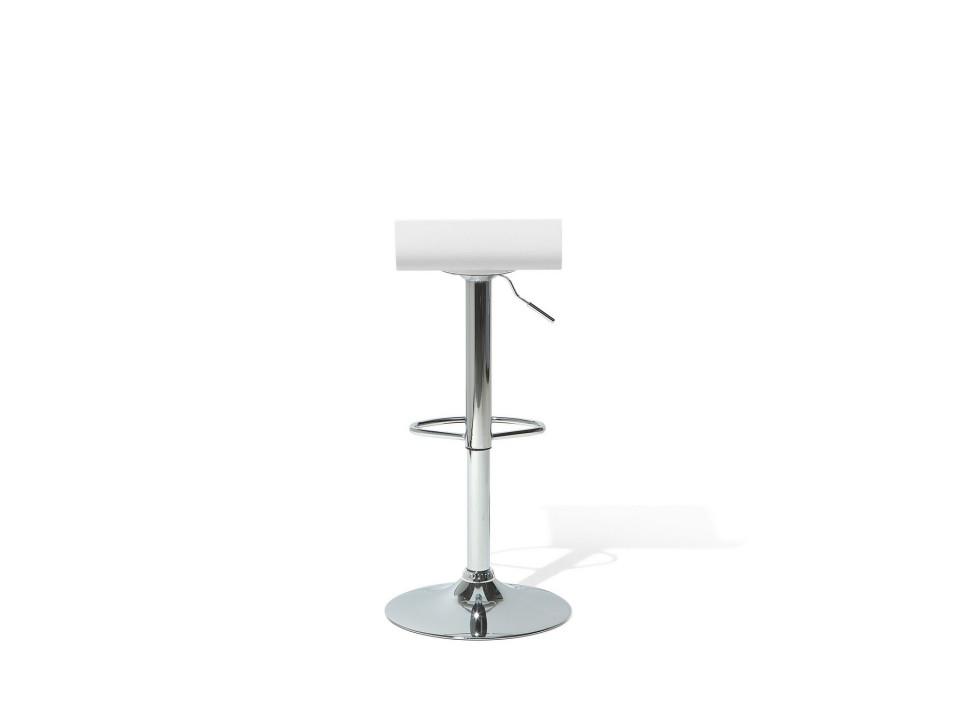 Scaun de bar VALENCIA, metal, alb/argintiu, 42 x 42 x 89 cm