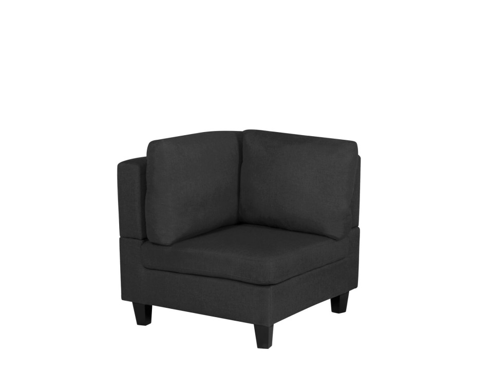 Sectiune canapea Fevik, textil, neagra, 80 x 76 x 76 cm chilipirul-zilei 2021