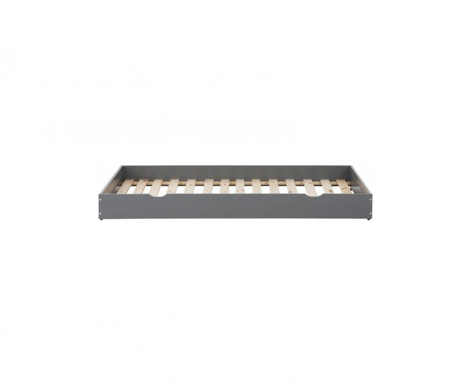 Sertar pentru depozitare Alpi lemn masiv de pin, alb, 90 x 190 cm