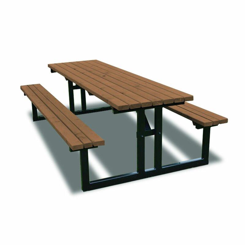 Set bancă și masă de picnic Reva Steel, oțel, 74cm H x 180cm L x 156cm W poza chilipirul-zilei.ro