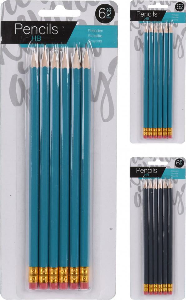 Set de 12 creioane HB, Karll cu radiera