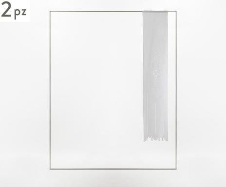 Set de 2 perdele Siena alb, 58x240 cm