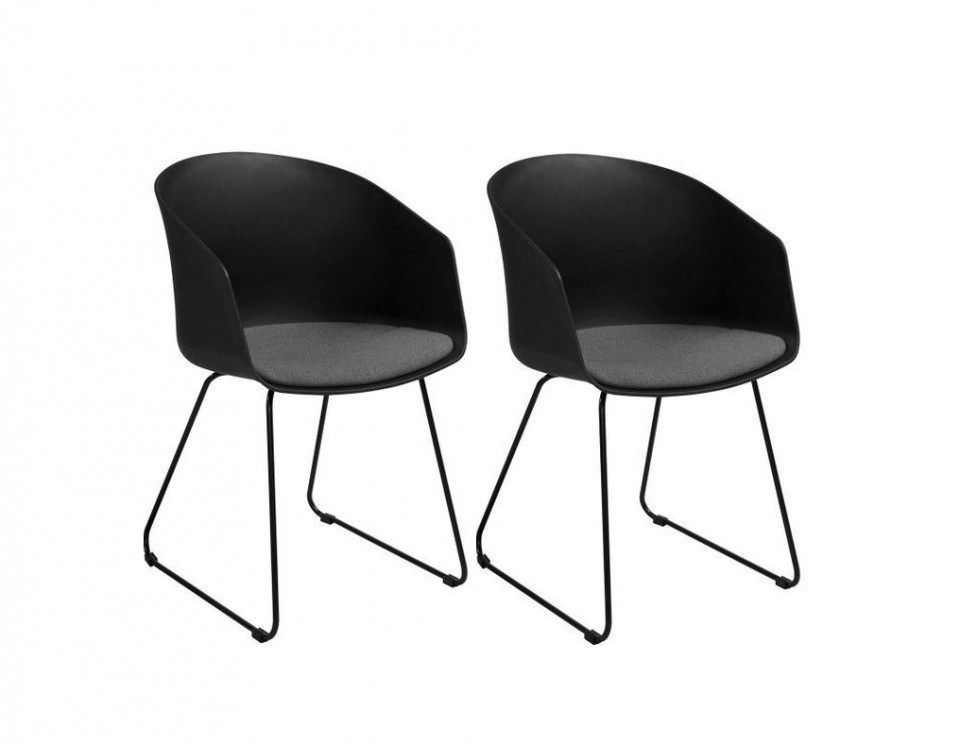 Set de 2 scaune Bogart, negru, 51x81x52cm 2021 chilipirul-zilei.ro