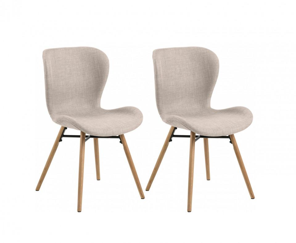 Set de 2 scaune capitonate Batilda, 56 x 83 x 47 cm