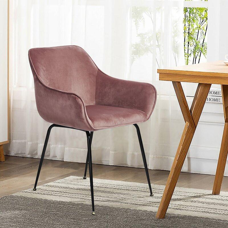 Set de 2 scaune Irvington, roz, 82 x 60 cm