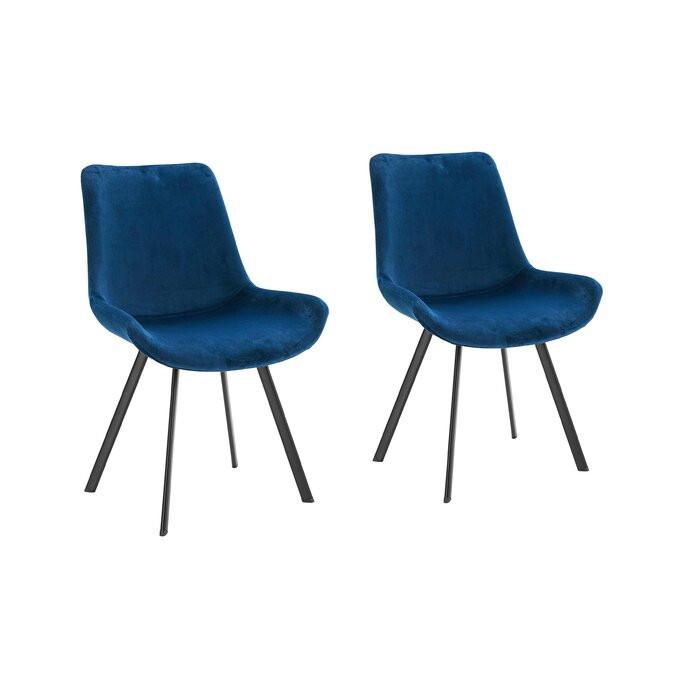 Set de 2 scaune Lilian, albastre, 84 x 54 x 61 cm chilipirul-zilei 2021