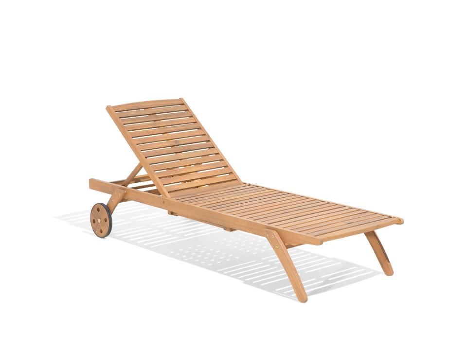 Sezlong CESANA din lemn de salcam 2021 chilipirul-zilei.ro