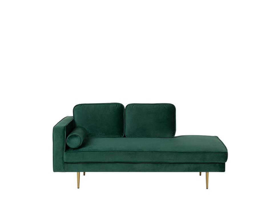 Sezlong Miramas, catifea, verde, 171 x 79 x 63 cm image0