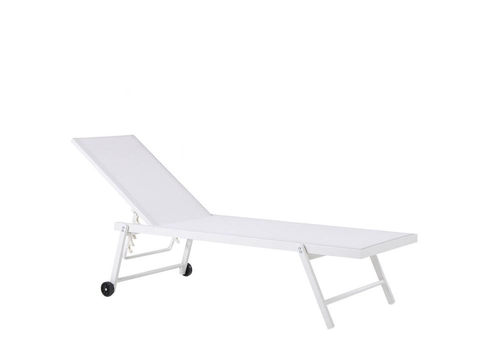 Sezlong reclinabil Portofino, alb, 198 x 65 x 107 cm image0