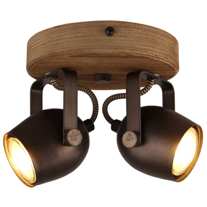 Spotlight Tool I, lemn/metal, maro, 20 x 14 x 16 cm, 20w poza chilipirul-zilei.ro