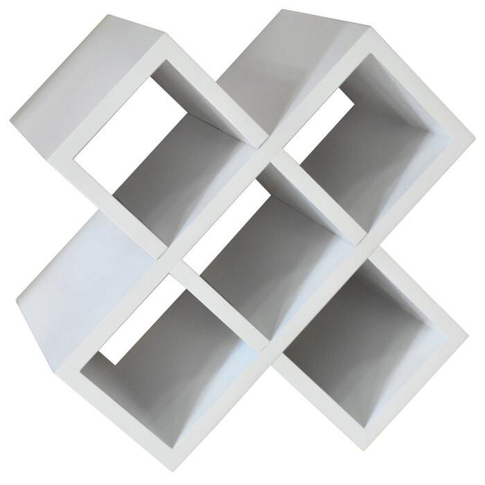Suport pentru sticle Woodcrest, MDF, alb, 30,5 x 30,5 x 20 cm imagine 2021 chilipirul zilei