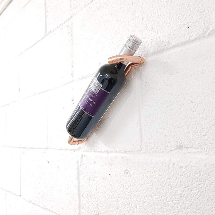 Suport Yoselin, pentru 1 sticla de vin, 13 x 29 x 6,5 cm 2021 chilipirul-zilei.ro