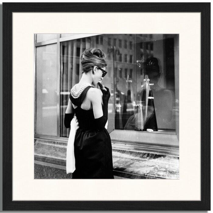 Tablou Audrey Hepburn, hartie, 43 x 43 x 2,5 cm chilipirul-zilei 2021