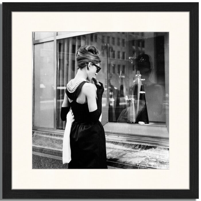 Tablou Audrey Hepburn, hartie, 43 x 43 x 2,5 cm poza chilipirul-zilei.ro