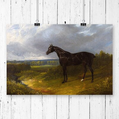 "Tablou "" Black Horse "", 42 x 59.4 cm"