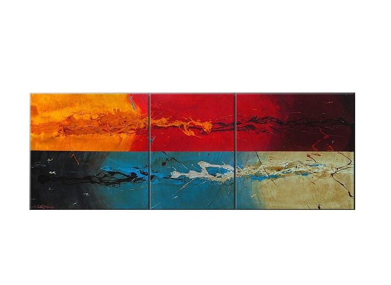 Tablou multicolor, 3 piese, 70 x 190 x 2 cm chilipirul-zilei 2021
