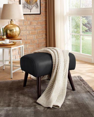 Taburet Home Affaire, piele sintetica, negru/maro inchis title=Taburet Home Affaire, piele sintetica, negru/maro inchis