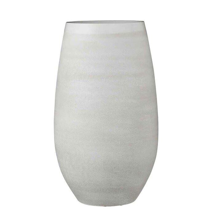 Vaza Burkeville, ceramica, alba, 50 x 29 x 29 cm chilipirul-zilei.ro