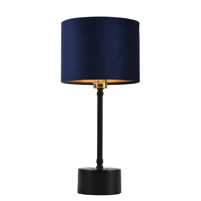 Veioza Fairford, metal/plastic, neagra/albastra, 39 x 18 x 18 cm, 40w