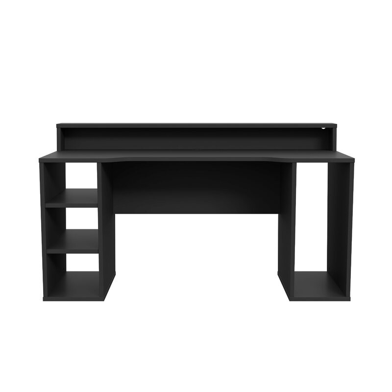 Birou Unyay 2 din PAL, negru, 160 x 90 cm