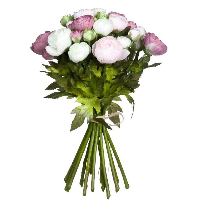Buchet de trandafiri artificiali Renoncule, 35 x 26 x 26 cm imagine 2021 chilipirul zilei