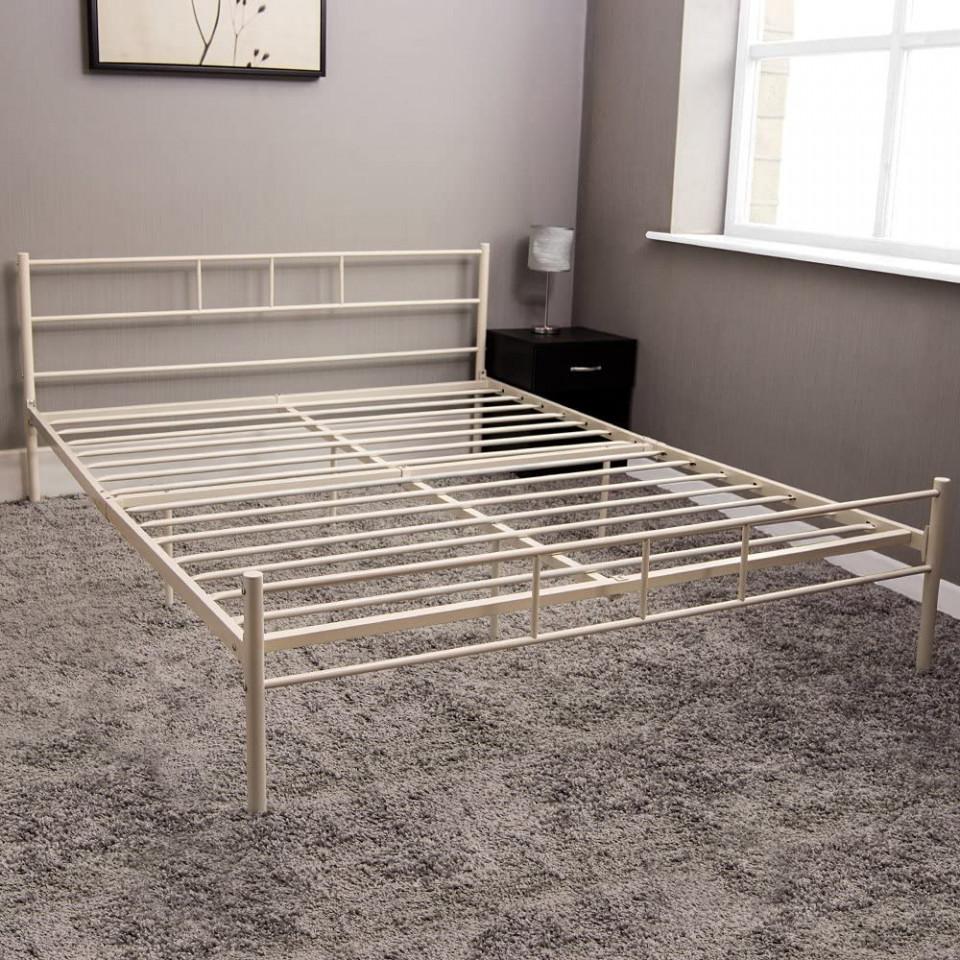 Cadru de pat, crem, 78 x 158 x 208cm