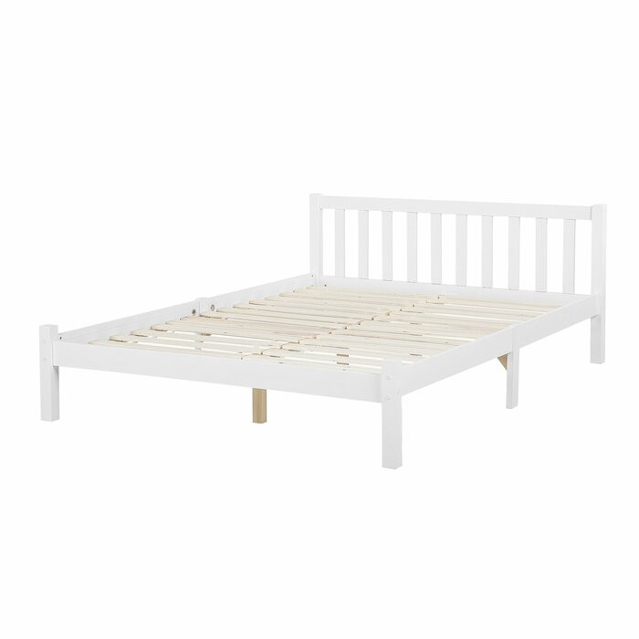 Cadru de pat Zebulon, lemn, alb, 187 x 208 cm chilipirul-zilei.ro
