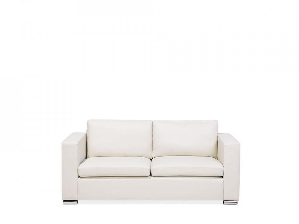 Canapea Helsinki cu 3 locuri din piele, crem