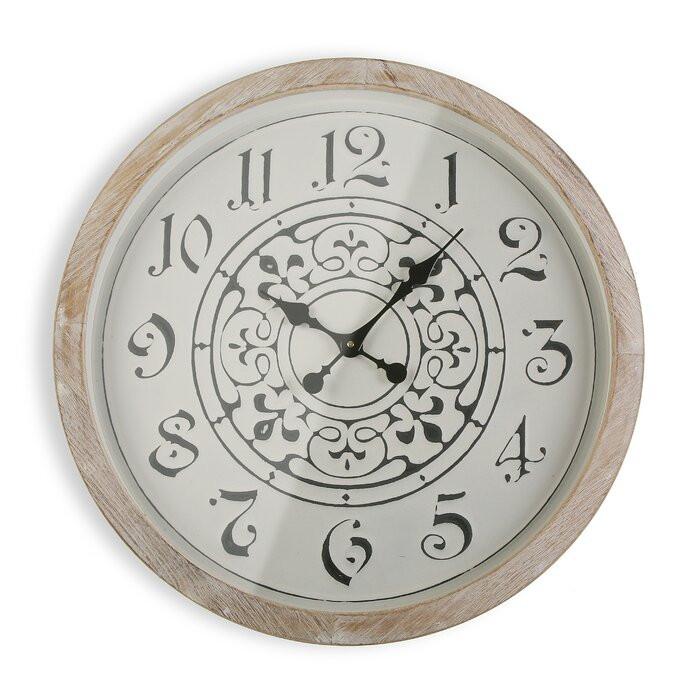 Ceas de perete Lovisa, MDF, 63,5 x 63,5 x 5 cm imagine 2021 chilipirul zilei