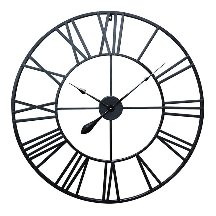 Ceas de perete, metal, negru, 80 x 80 x 3 cm 2021 chilipirul-zilei.ro