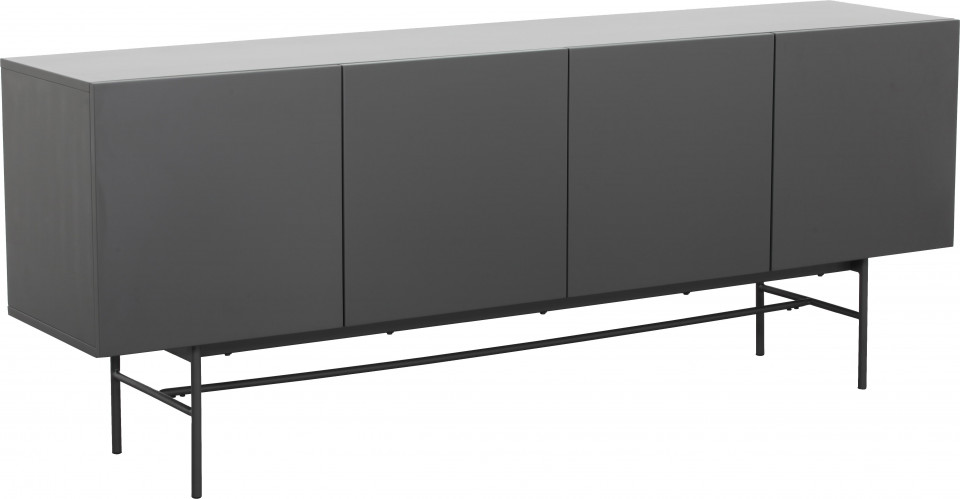 Comoda bufet Anders, MDF gri, 200 x 80 x 45 cm
