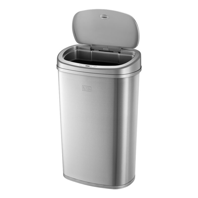 Cos de gunoi Stinson din otel inoxidabil, 50 L