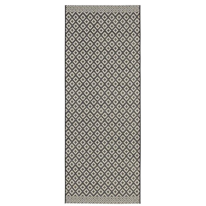 Covor Harmony, negru/crem, 76 x 200 cm