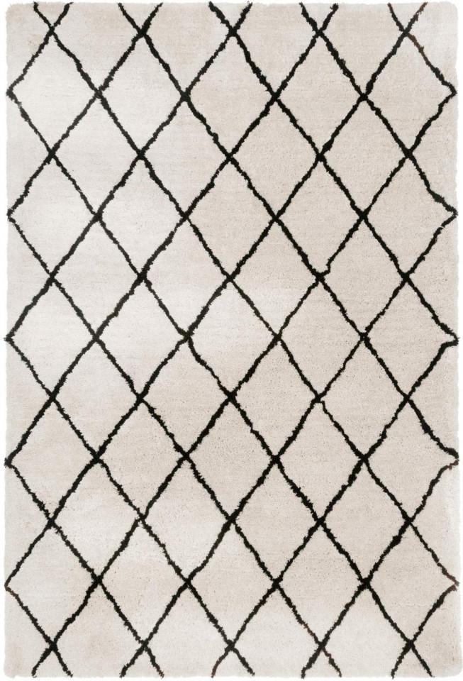Covor Naima, poliester/bumbac, bej/negru, 300 x 400 cm imagine 2021 chilipirul zilei