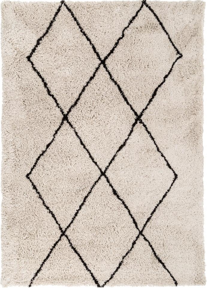 Covor Nouria, bej/negru, 230 x 160 x 4 cm chilipirul-zilei 2021