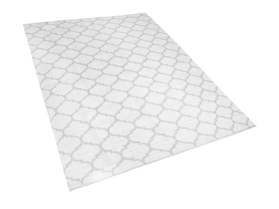 Covor reversibil Aksu, alb/gri, 160 x 230 cm image0