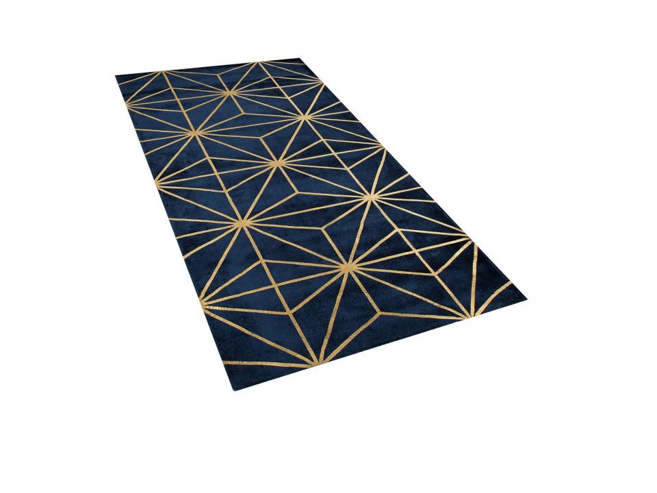 Covor SIBEL, albastru regal, auriu 160 x 230 cm