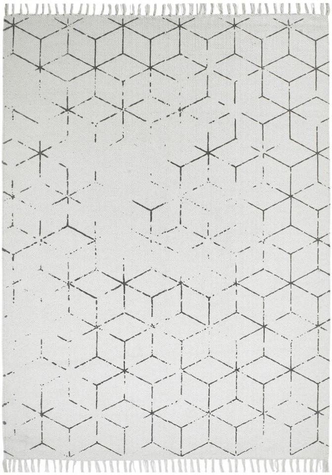 Covor Stockholm alb / gri, 160 x 230 cm